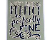 Perfect - 8x10 Illustrated Print - Vintage Green