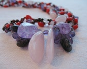 Butterfly Isle, semiprecious stones necklace
