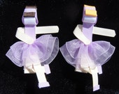 hair bow , hair clip Ballet collection ribbon sculpture slippers and ballerina's your choice of 2, shoes or girl