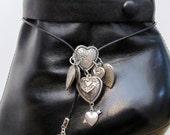 Silver Hearts  Boot Bolo