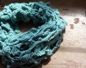 sage green lacy crochet shawl wrap infinity scarf triangle scarf poncho cape handmade leafy clove vine irish crochet clothing accessories