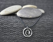 Circular Swirly Silver Pendant - One-of- a -kind  (Design Number 197)