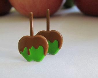 Delicious Carmel Apple Earrings