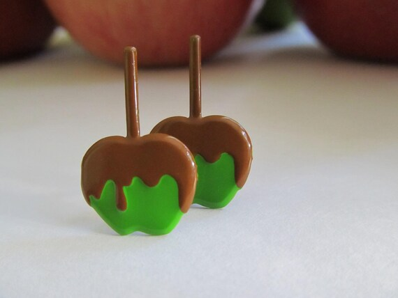 Delicious Carmel Apple Earrings