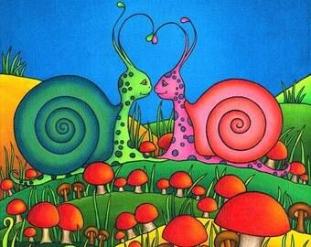 Sweetheart Snails Print