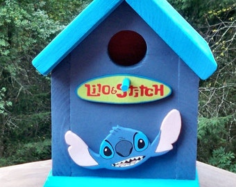 Disney Lilo and Stitch Birdhouse- Free Shipping