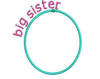 INSTANT DOWNLOAD, Machine Applique Design, Big Sister