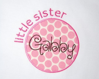 INSTANT DOWNLOAD, Machine Applique Design, Little Sister