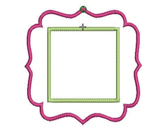 INSTANT DOWNLOAD, Machine Applique Design, Squared Frame with Square