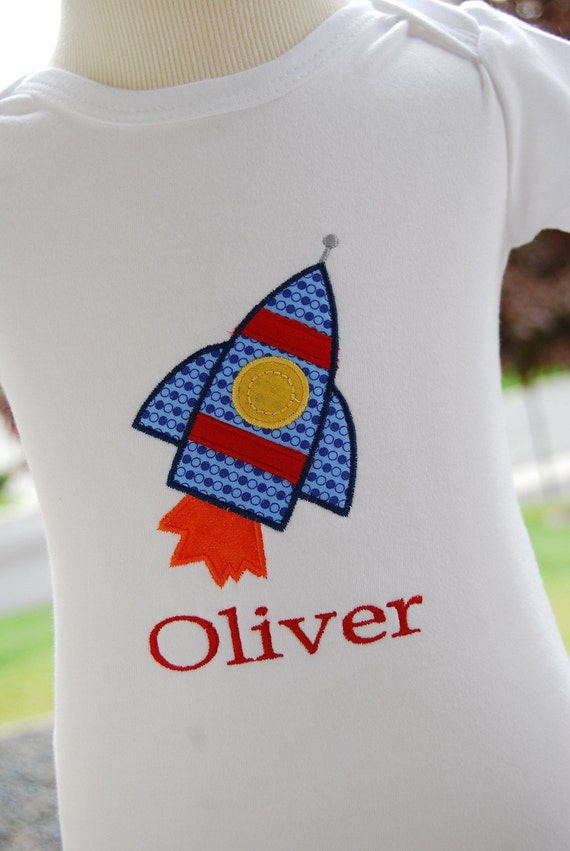 INSTANT DOWNLOAD, Machine Applique Design, Rocket