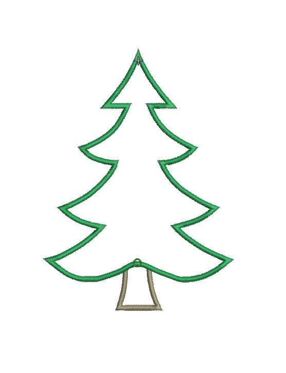 instant download  machine applique design  christmas tree