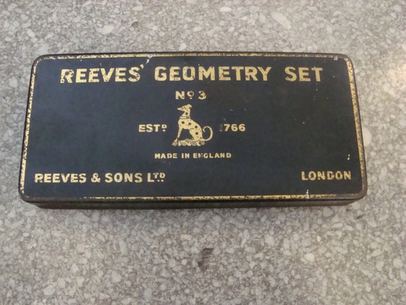 Vintage Geometry Set - Made in England
