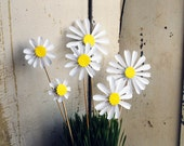 Daisies, Daisy Paper Flowers, Origami Flowers to add to a Bouquet - Free shipping
