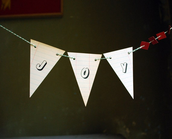 JOY, Holiday Paper Banner