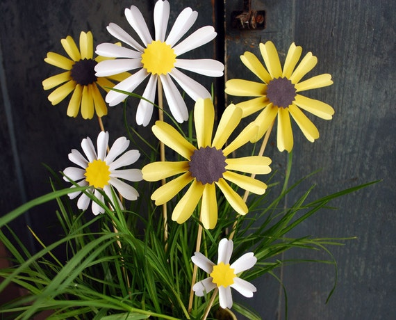 Daisy Paper Flowers, Black Eyed Susan, Mothers Day Bouquet Origami Flowers, First Anniversary Gift