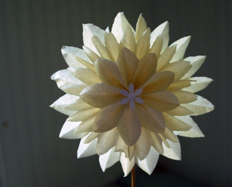 Dahlia Flowers And Gifts Paper Flower White Dahlia