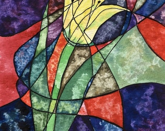 Stained Glass Lily