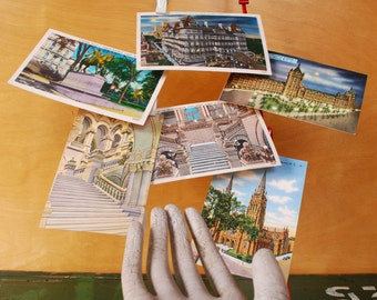 6 Vintage New York Postcards, Unused. Albany, NY State Capitol Building