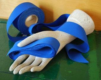 Bright Ultramarine Royal Blue Ribbon Fabric Trim, 1.5 inch wide, 10 Yards Long