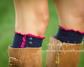 Pink Polka Boot Socks