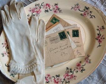 Apple Blossom Oval Serving Platter - Homer Laughlin
