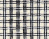 Homespun Fabric Navy & Cream Checker Pane
