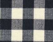 Homespun Fabric Navy and Cream Check