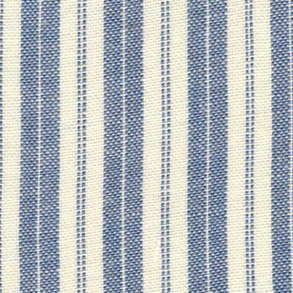 Reserved Lisitng Candice -  Blue and Cream Ticking