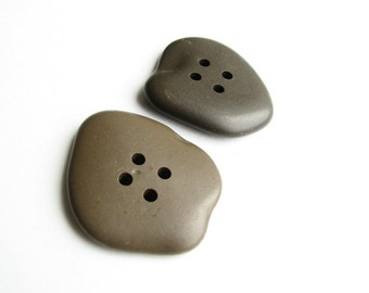 Stone Coat Buttons - Drilled Sea Pebbles