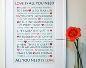Love quotes and hearts poster