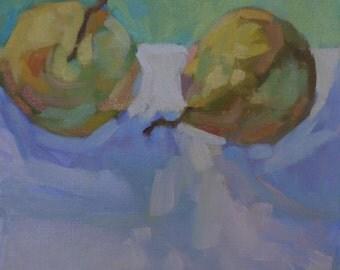 "Original Oil Painting  ""Pears"" 10"" x 10"""