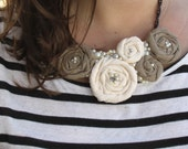 Custom Color Rosette Necklace