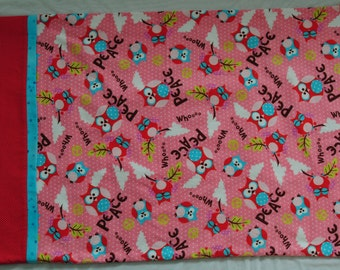 Pillowcase, Peace Owl, Flannel, Standard Size