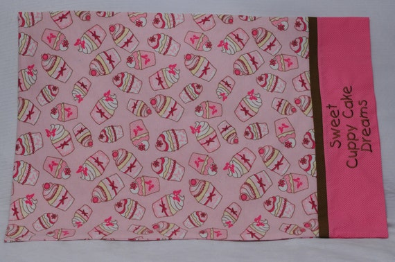 Cupcake Flannel Pillowcase, Standard Size