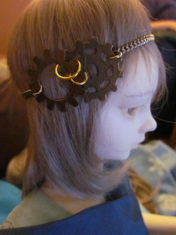 Steampunk Flapper headdress for 7/8 SD/MSD