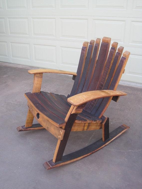 fauteuil bascule chaise de tonneau vin. Black Bedroom Furniture Sets. Home Design Ideas