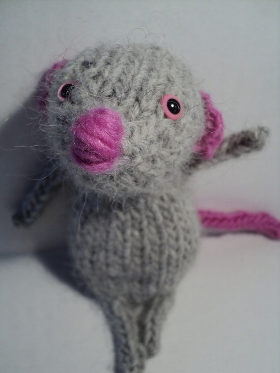 Tiny the Little Knitted Grey Mouse
