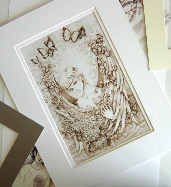 "Fantasy Mythological 12x16 MATTED Art Print ""Morpheus"""