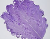 Curly Feather Pad - Lavender  Light Purple  FP173 - (1 piece)
