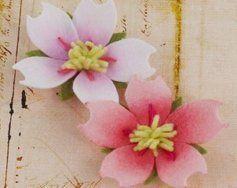 fabric flowers - Merlelle Collection - Rose 558598 - felt flowers - for card making,  journal, album accents & more