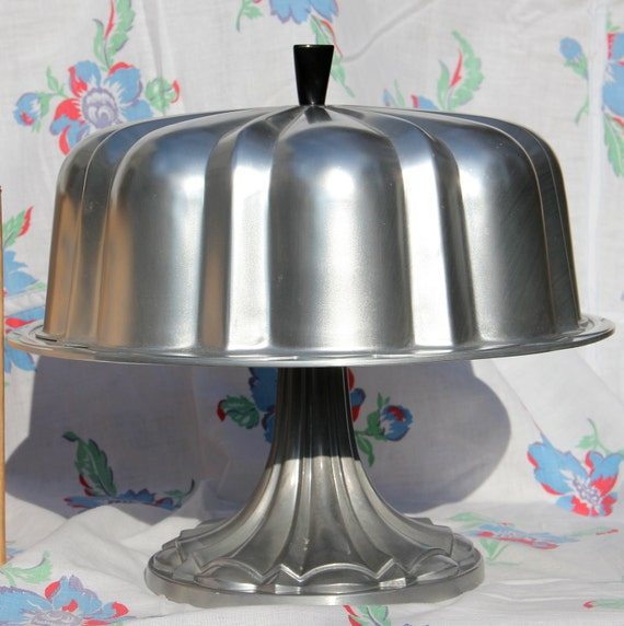 Vintage Nordic Ware Aluminum Bundt Cake Stand With Cover And