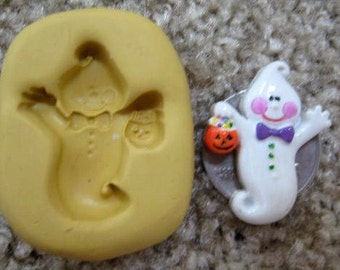GHOST mold Halloween mold chocolate mold food safe for fondant chocolate cold porcelain polymer clay air dry clay sculpey resin soap embed