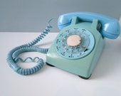 Turquoise Rotary Phone