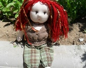Waldorf Doll, Sofi, highly detailed hand made Doll, upcycled and recycled materials. Free Shipping