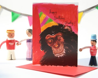 cheeky monkey birthday card
