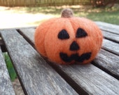 Wool Jack-o-lantern - MADE TO ORDER Needle Felted Sculpture