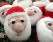 Santa Claus Sculpture / Ornament - MADE TO ORDER - Small Version - Needle Felted Wool