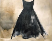 "RESERVE FOR BARB /Abitina Nero "" Little Black Dress"" giclee 16x20"