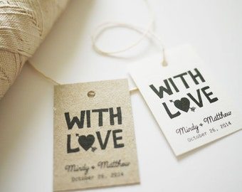 With Love Customized Favor Tags Printable PDF