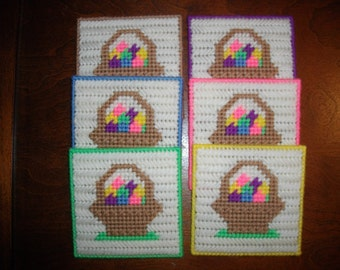 Easter Basket Coaster Set